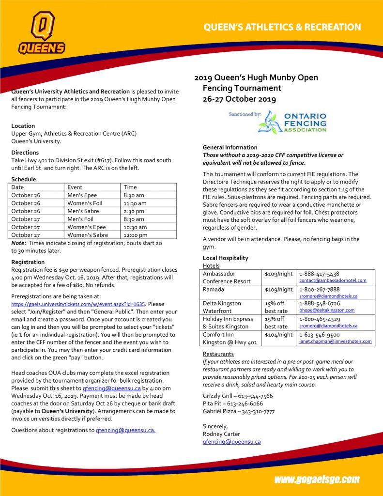Queen's Hugh Munby Open @ Queen's University, ARC Upper Gym