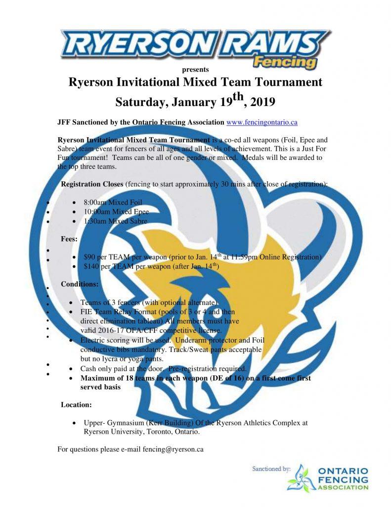 Ryerson Invitational Mixed Team Tournament